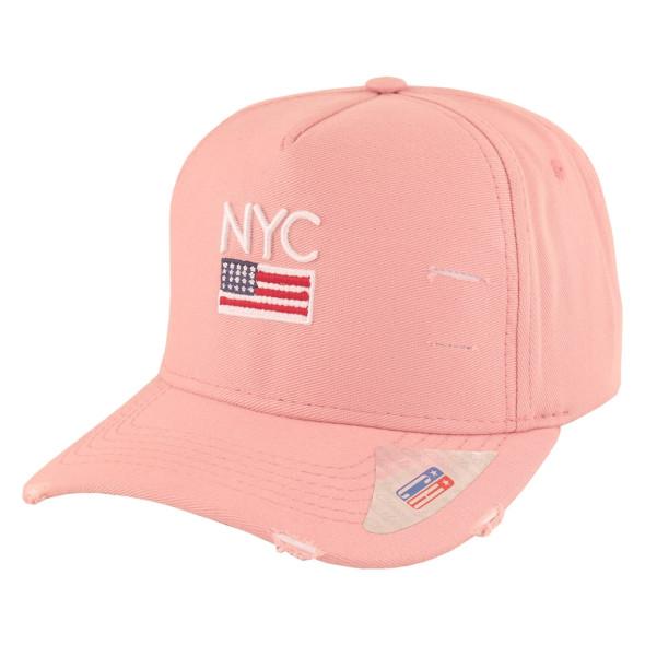 Boné Aba Curva Classic Hats NYC Rosa