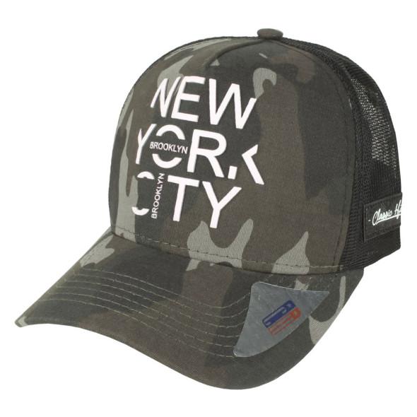Boné Aba Curva Snapback Trucker Classic Hats Camuflado New York