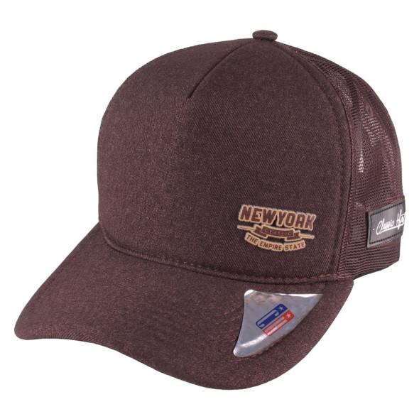 Boné Aba Curva Snapback Truker Classic Hats New York Marrom