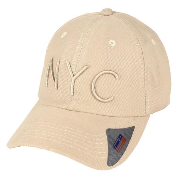 Boné Aba Curva Strapback Classic Hats NYC Bege