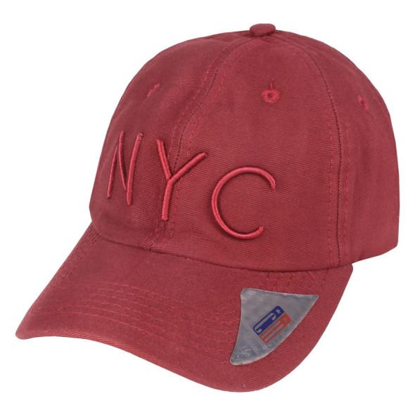 Boné Aba Curva Strapback Classic Hats NYC Vinho