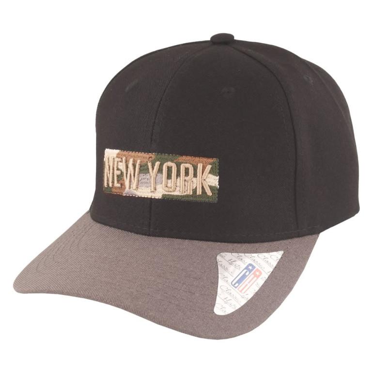 Boné Aba Curva Classic Hats New York Preto