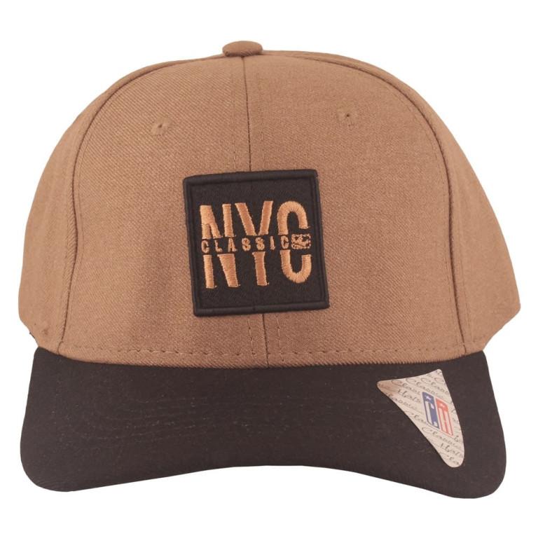 Boné Aba Curva Classic Hats NYC Marrom