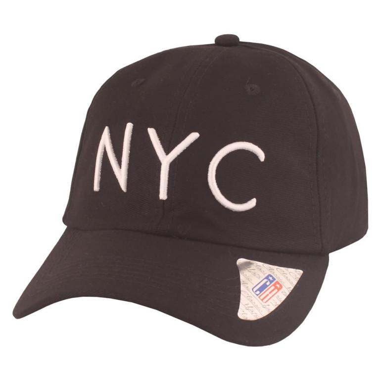 Boné Aba Curva Classic Hats NYC Preto