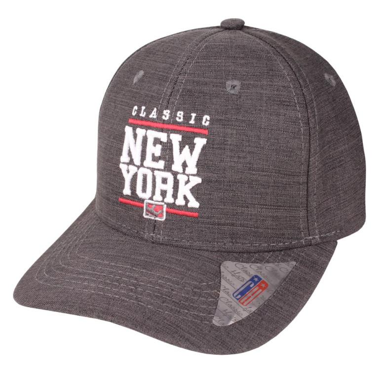 Boné Aba Curva Snapback Classic Hats New York Chumbo