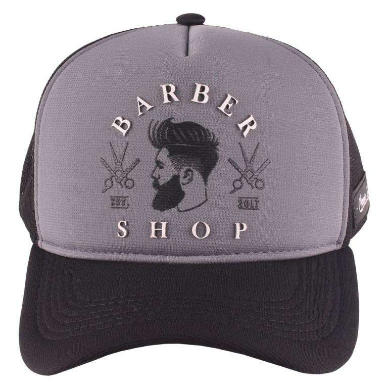 Boné Aba Curva Snapback Truker Classic Hats Barber Shop