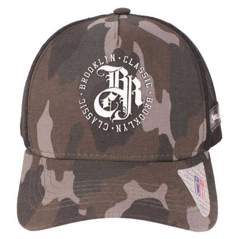 Boné Aba Curva Snapback Trucker Classic Hats Camuflado Brooklyn