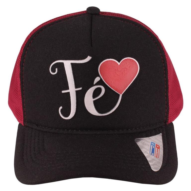 Boné Aba Curva Snapback Truker Classic Hats Fé Bordô