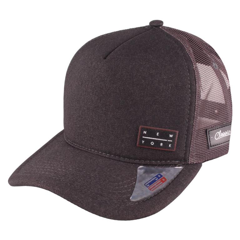 Boné Aba Curva Snapback Truker Classic Hats New York Preto