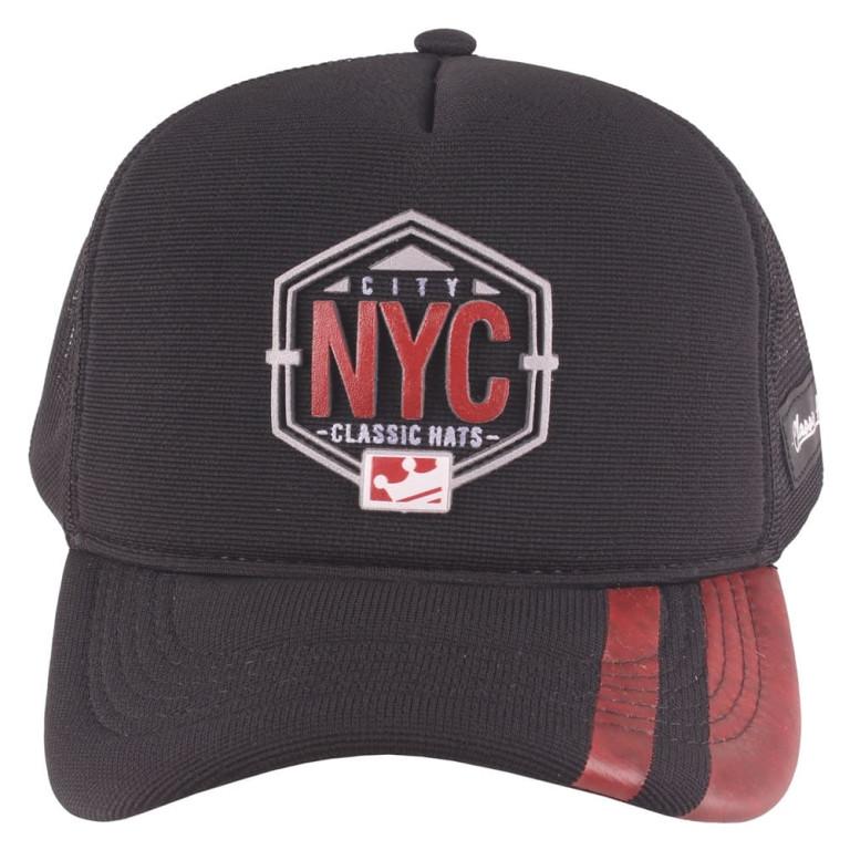Boné Aba Curva Snapback Truker Classic Hats NYC Preto