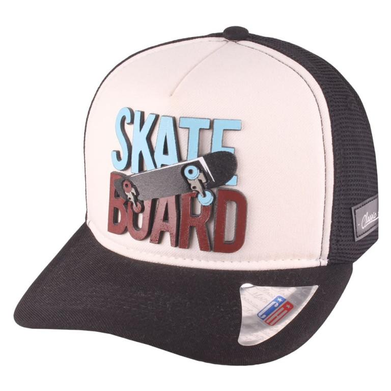 Boné Aba Curva Snapback Truker Classic Hats Skate Board