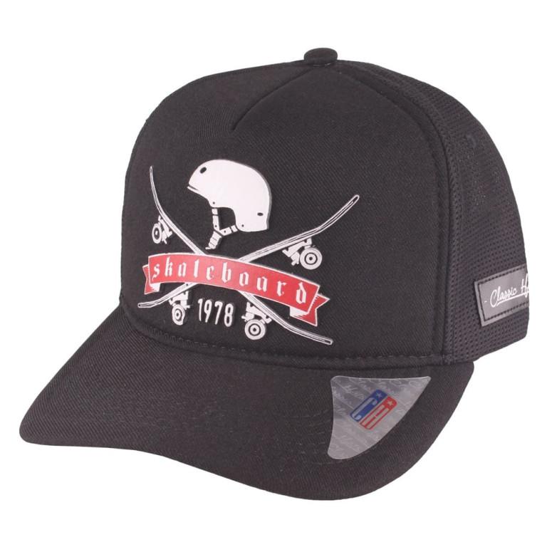 Boné Aba Curva Snapback Truker Classic Hats Skate Board 1978