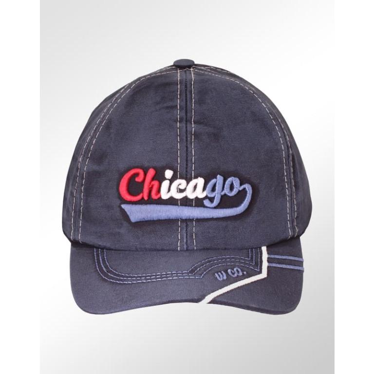 Boné Aba Curva Strapback Estonado Azul Via Br Chicago