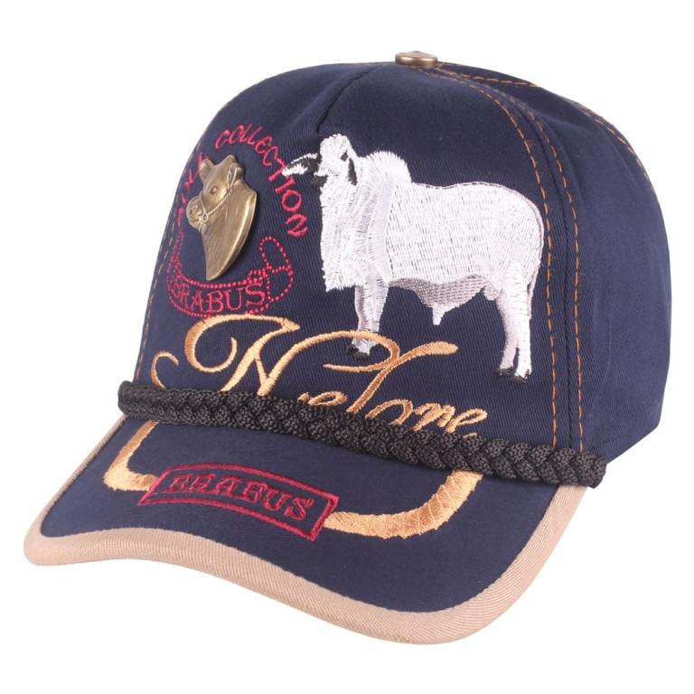 Boné Country Brabus Bull Collection Nelore Marinho