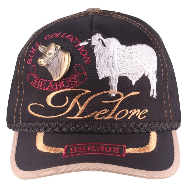 Boné Country Brabus Bull Collection Nelore Preto