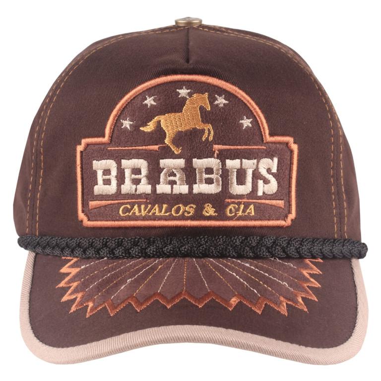 Boné Country Brabus Cavalos & Cia Marrom