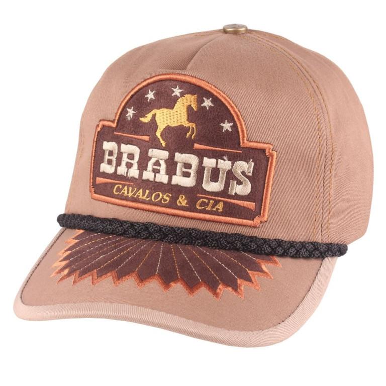 Boné Country Brabus Cavalos & Cia Marrom Claro