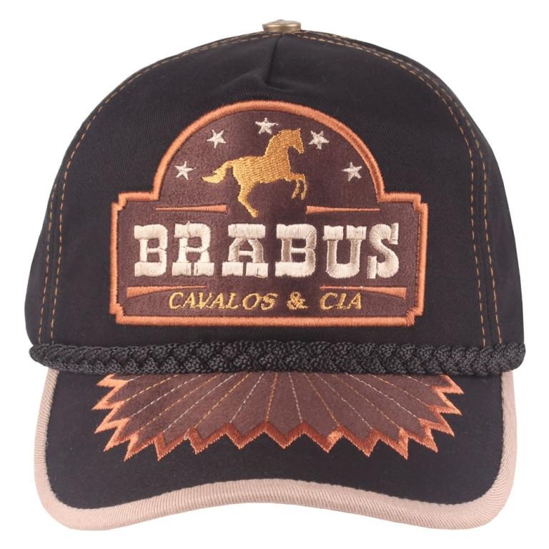 Boné Country Brabus Cavalos & Cia Preto