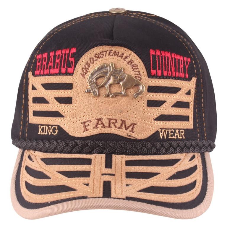 Boné Country Brabus King Farm Wear Preto