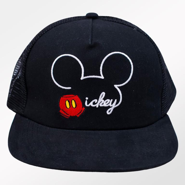 Boné Infantil Aba Reta Preto Mickey