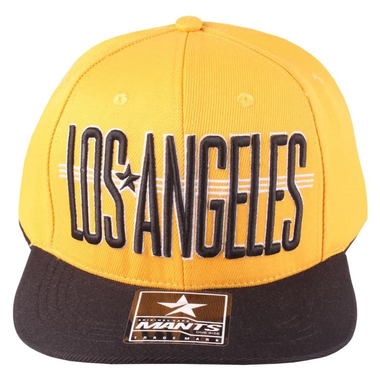 Boné Snapback Aba Reta Mants Los Angeles Amarelo