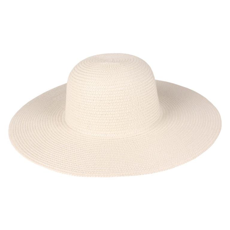 Chapéu de Praia Palha Básico Bege
