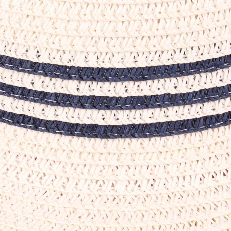 Chapéu de Praia Palha com Listras Marinho
