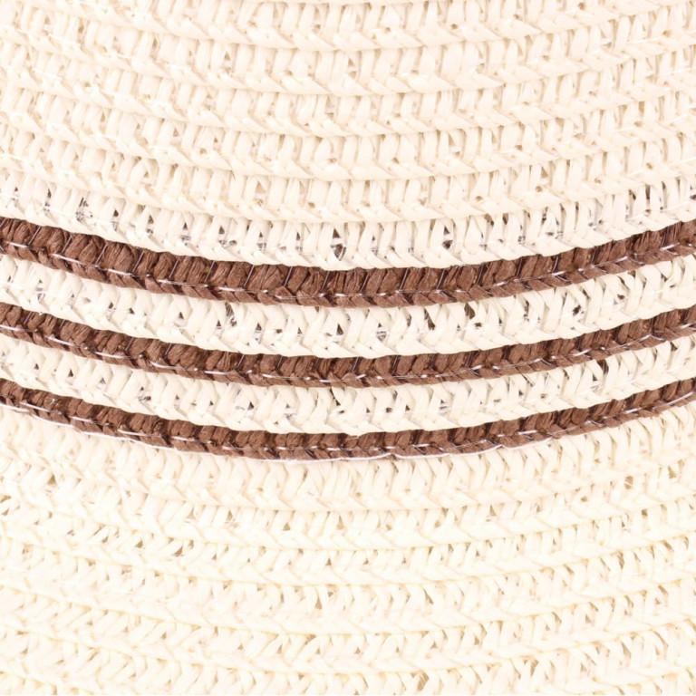 Chapéu de Praia Palha com Listras Marrom