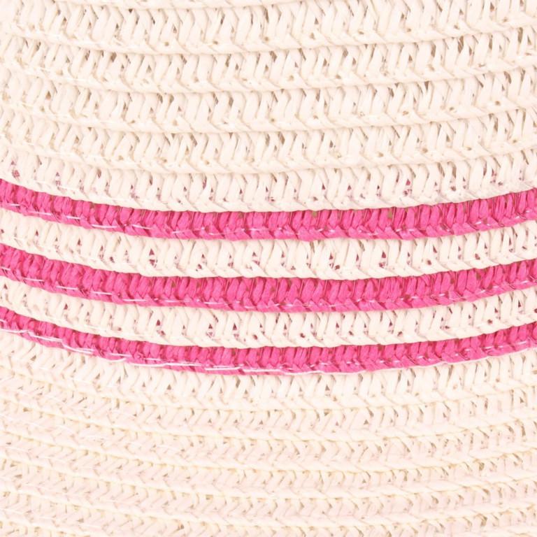 Chapéu de Praia Palha com Listras Pink