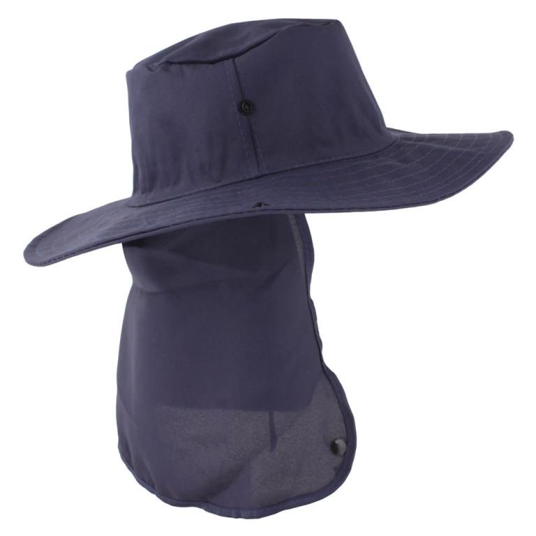 Chapéu Pescador com Proteção de Pescoço Azul Marinho