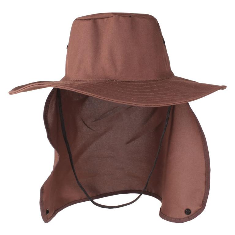 Chapéu Pescador com Proteção de Pescoço Marrom