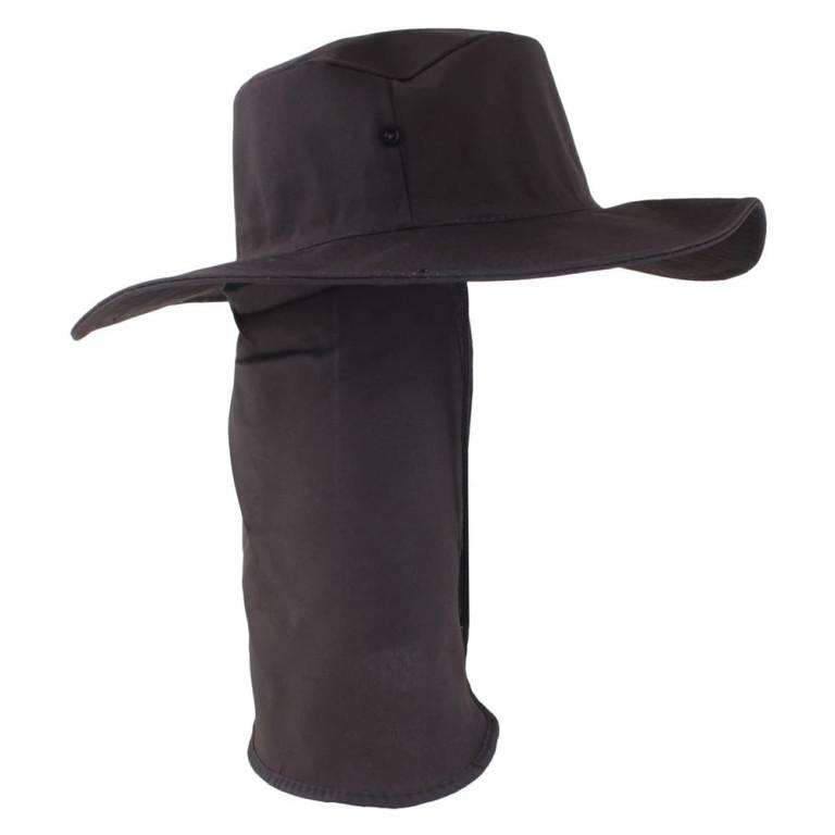 Chapéu Pescador com Proteção de Pescoço Preto