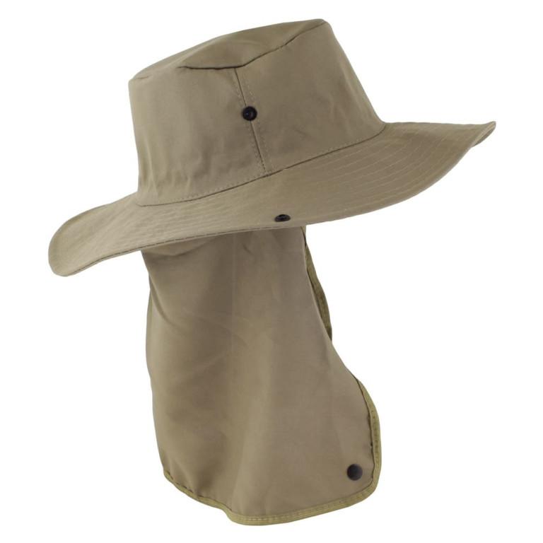 Chapéu Pescador com Proteção de Pescoço Verde Claro