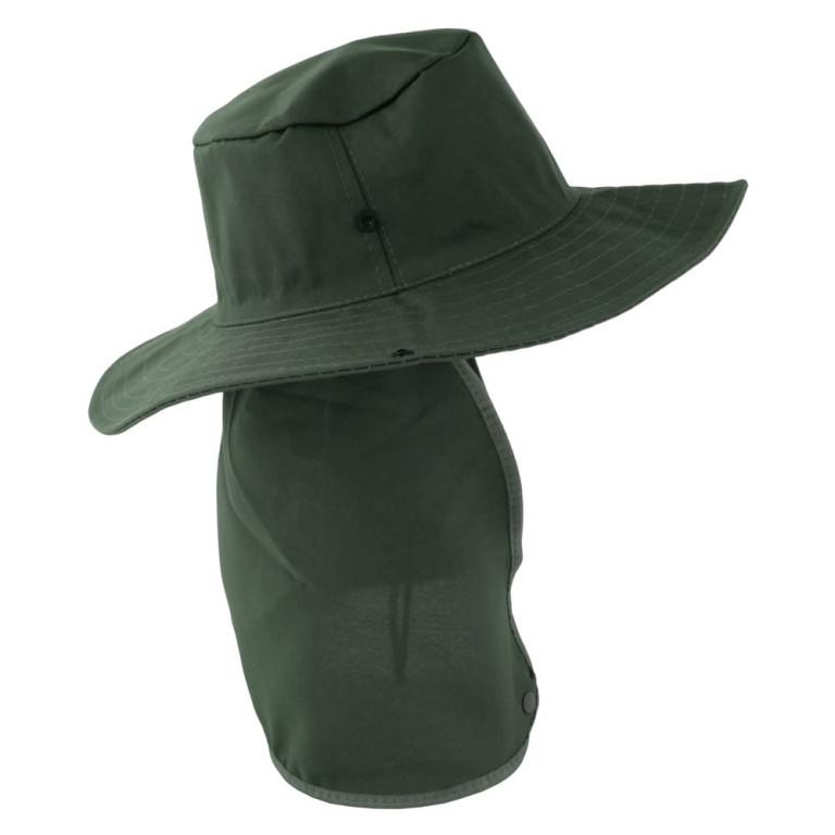 Chapéu Pescador com Proteção de Pescoço Verde Militar