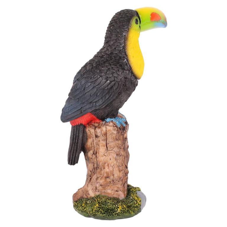 Estatueta Tucano em Resina 16 cm