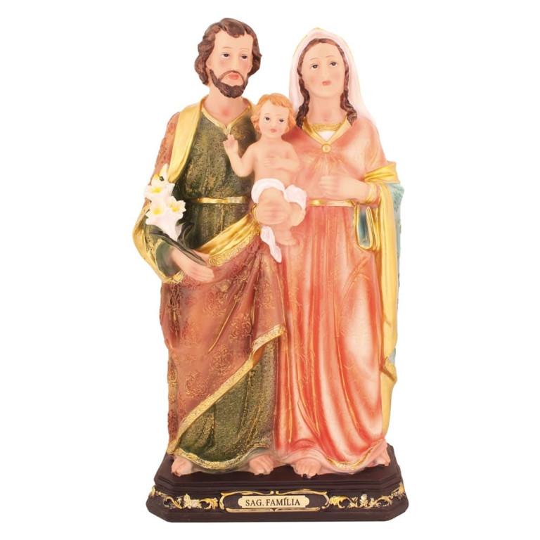 Imagem Sagrada Família em Resina 42 cm