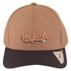 Boné Aba Curva Classic Hats New York Marrom 2