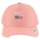 Boné Aba Curva Classic Hats NYC Rosa 2