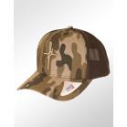 Boné Aba Curva Snapback Classic Hats Camuflado Marrom Fé