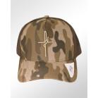 Boné Aba Curva Snapback Classic Hats Camuflado Marrom Fé 2